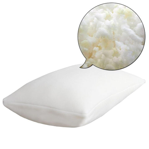 Set of 2 Bamboo Fabric Cover Shredded Memory Foam Pillow 70 x 40 cm - Bedding & Bath - ANB Mart