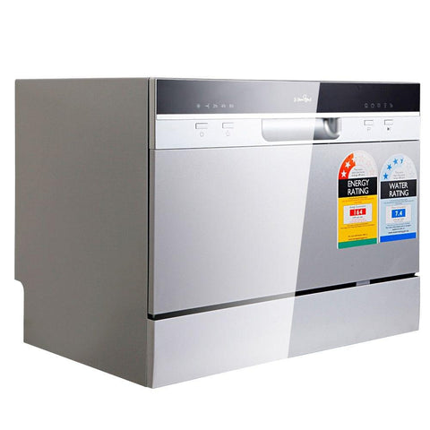 5 Star Chef Electric Benchtop Dishwasher Silver - Appliances & Whitegoods - A&B Mart Australia - 1