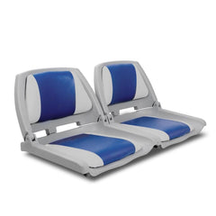 Set of 2 Swivel Folding Marine Boat Seats Grey Blue | Buy Boats & Kayaks Products Online With the Best Deals at Anbmart.com.au!