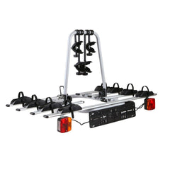Bicycle Bike Carrier Rack  w/ Tow Ball Mount Black Silver - Bicycle Accessories - ANB Mart