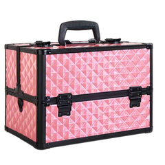 Portable Cosmetic Beauty Make Up Carry Case Box Pink | Buy Cosmetic & Jewelleries Storage Products Online With the Best Deals at Anbmart.com.au!