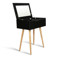Dressing Table with Foldaway Mirror- Black | Buy Bedroom Furniture Products Online With the Best Deals at Anbmart.com.au!