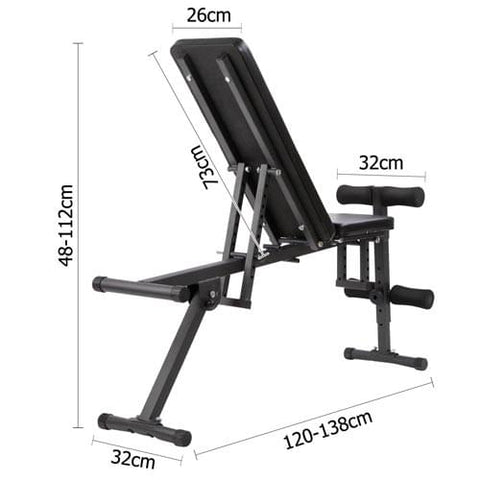 FID Flat Adjustable Bench 150Kg - Fitness & Exercise - ANB Mart