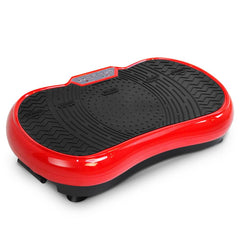 1000W Vibrating Plate Exercise Platform with Roller Wheels - Red | Buy Fitness & Exercise Products Online With the Best Deals at Anbmart.com.au!