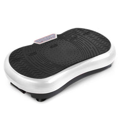 1000W Vibrating Plate Exercise Platform with Roller Wheels - White | Buy Fitness & Exercise Products Online With the Best Deals at Anbmart.com.au!