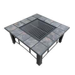 Outdoor Fire Pit BBQ Table Grill Fireplace Ice Bucket w/ Table Lid | Buy BBQ Products Online With the Best Deals at Anbmart.com.au!