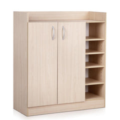 2 Doors Shoe Cabinet Storage Cupboard - Natural Timber | Buy Storage & Organisation Products Online With the Best Deals at Anbmart.com.au!