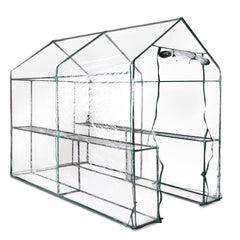 Greenhouse with Transparent PVC Cover - 1.9M x 1.2M - Garden Furniture - ANB Mart