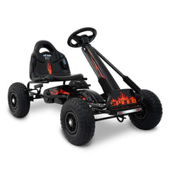 Kids Pedal Go Kart - Black | Buy Kids Go-Karts & Ride-Ons Products Online With the Best Deals at Anbmart.com.au!