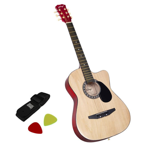 38 Inch Wooden Acoustic Guitar Natural - Audio & Video - A&B Mart Australia - 1