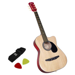 38 Inch Wooden Acoustic Guitar Natural - Music, Studio & Accessories - ANB Mart