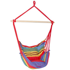 Hammock Swing Chair w/ Cushion Multi-colour - Garden Furniture - ANB Mart
