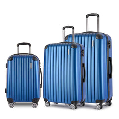 Set of 3 Hard Shell Travel Luggage with TSA Lock - Blue | Buy Luggage & Travel Products Online With the Best Deals at Anbmart.com.au!
