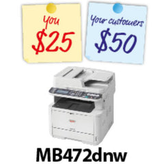 OKI MB472dnw Mono A4 Network MFP | Buy Laser/LED Printers Products Online With the Best Deals at Anbmart.com.au!