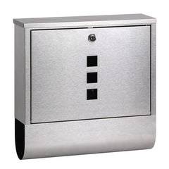 Stainless Steel Wall Mount Mail Letter Box - Garden Furniture - ANB Mart