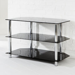 Amore Corner TV Unit 3 Shelf Black | Buy Lounge Furniture Products Online With the Best Deals at Anbmart.com.au!