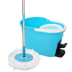 360 Degree Spinning Mop Spin Dry Bucket 8.5L Blue | Buy Cleaning & Housekeeping Products Online With the Best Deals at Anbmart.com.au!