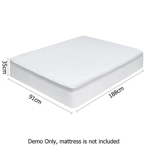 Waterproof Bamboo Mattress Protector - Single - Bedding & Bath - ANB Mart