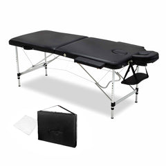 75cm Professional Aluminium Portable Massage Table - Black | Buy Massage Products Online With the Best Deals at Anbmart.com.au!