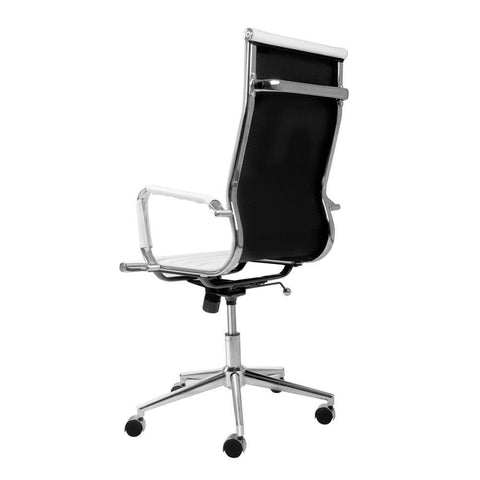 Eames Replica PU Leather High Back Executive Computer Office Chair White - Office Furniture - ANB Mart