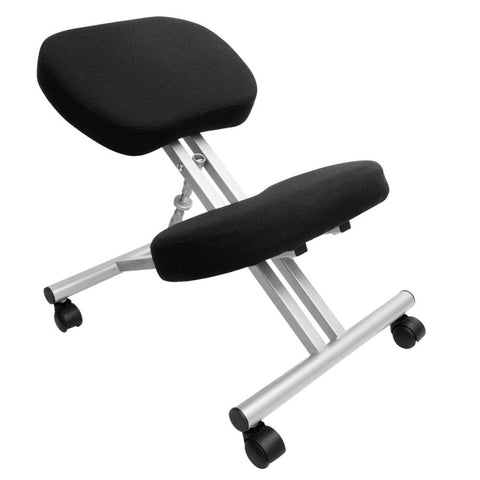 Adjustable Kneeling Chair Office Stool Silver - Office Furniture - ANB Mart