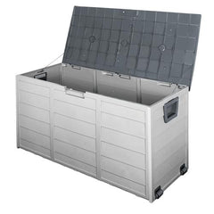 290L Plastic Outdoor Storage Box Container Weatherproof Grey | Buy Storage & Organisation Products Online With the Best Deals at Anbmart.com.au!