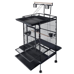 Parrot Pet Aviary Bird Cage 170cm Black | Buy Birds Products Online With the Best Deals at Anbmart.com.au!
