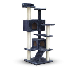 Cat Scratching Post  Tree House Condo 134cm Grey | Buy Cats & Dogs Products Online With the Best Deals at Anbmart.com.au!
