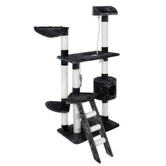 Multi Level Cat Scratching Poles Tree w/ Ladder Grey | Buy Cats & Dogs Products Online With the Best Deals at Anbmart.com.au!