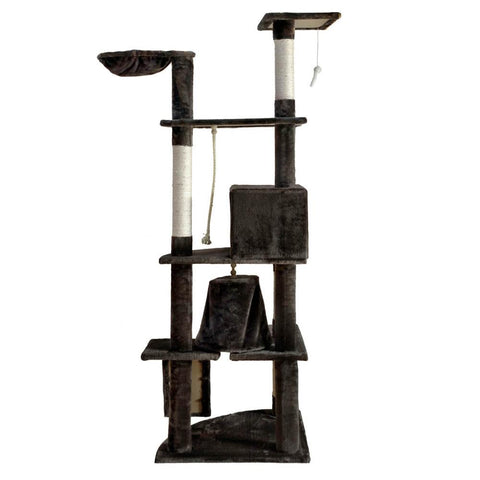 Cat Scratching Poles Post Furniture Tree 193cm Dark Grey - Cats & Dogs - ANB Mart