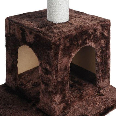 Cat Scratching Poles Post Furniture Tree House Brown - Cats & Dogs - ANB Mart