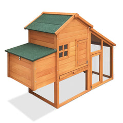 Wooden Pet Hutch with Nesting Box - Ferrets, Hutches & Small Animals - ANB Mart