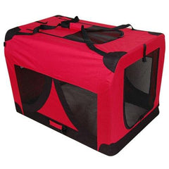Extra Large Portable Soft Pet Dog Crate Cage Kennel Red - Cats & Dogs - ANB Mart