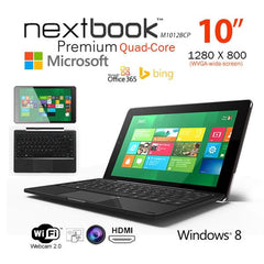 Nextbook 10.1 Inch 32G/Windows 8.1 with Bing/Quad Core with HDMI Output Tablet PC (M1012BCP)  Refurbished - Computer Accessories - ANB Mart