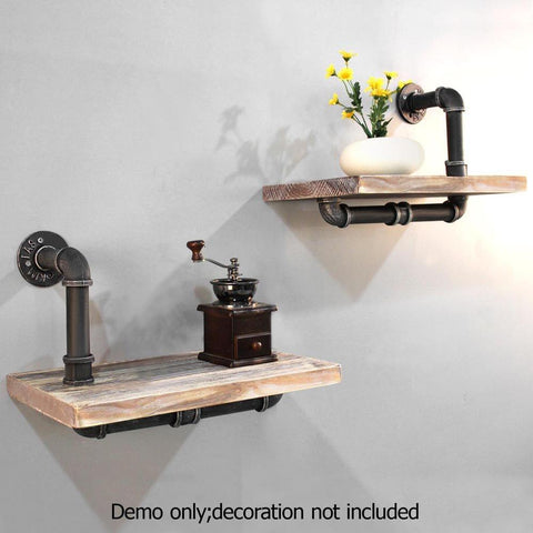 Rustic Industrial DIY Floating Pipe Shelf - Lounge Furniture - ANB Mart