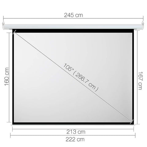 Electric Projector Screen - 266 cm - Projector Screens - ANB Mart