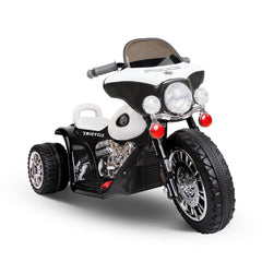 Kids Ride on Motorbike Black & White - Kids Go-Karts & Ride-Ons - ANB Mart
