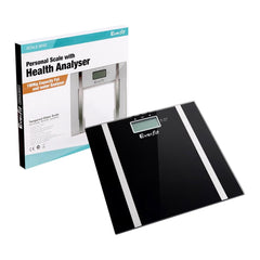 Electronic Digital Body Fat & Hydration Bathroom Glass Scale Black | Buy Scales Products Online With the Best Deals at Anbmart.com.au!