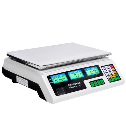 Kitchen Electronic Digital Scales 40kg  White - Tools & DIY - A&B Mart Australia - 1