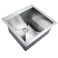 Stainless Steel Kitchen Laundry Sink w/ Strainer Waste 530 x 500mm | Buy Kitchen, Dining & Bar Products Online With the Best Deals at Anbmart.com.au!