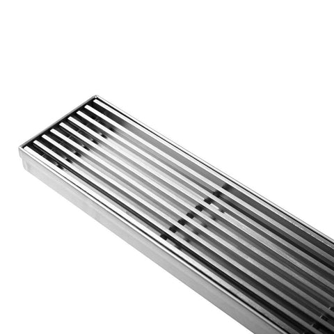 Heelguard Stainless Steel Shower Grate Drain Floor Bathroom 1000mm - Bedding & Bath - ANB Mart