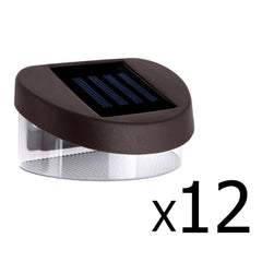 Set of 12 Solar Fence Light - Garden Lights - ANB Mart