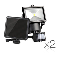 Set of 2 5W COB LED Solar Security Lights | Buy Garden Lights Products Online With the Best Deals at Anbmart.com.au!