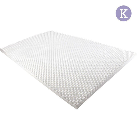 Deluxe Egg Crate Mattress Topper 5 cm Underlay Protector King - Bedding & Bath - ANB Mart