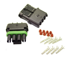 2PCS 12V/24V KITS 1.5MM 4 WAY WATERPROOF AUTO ELECTRICAL WIRE CONNECTOR PLUG | Buy Auto Tools Products Online With the Best Deals at Anbmart.com.au!