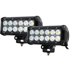 2x 7inch 60w Cree LED Light Bar Flood Beam Offroad Work SUV 4WD Lamp - Torches & Lights - ANB Mart