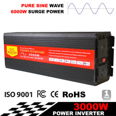 PURE SINE WAVE 3000W MAX 6000W 12V-240V POWER INVERTER CAR CARAVAN CAMPING BOAT | Buy Auto Tools Products Online With the Best Deals at Anbmart.com.au!