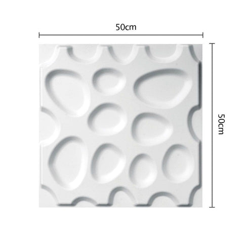 12 Pcs 3D Pebble Design Wall Panel - Home Decoration - ANB Mart