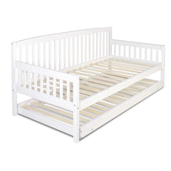 Wooden Bed Frame with Trundle - Single - Bedroom Furniture - ANB Mart