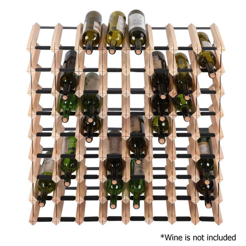 Timber Wine Rack 72 Bottles - Storage & Organisation - ANB Mart